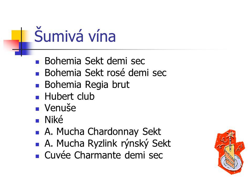 Šumivá vína Bohemia Sekt demi sec Bohemia Sekt rosé demi sec