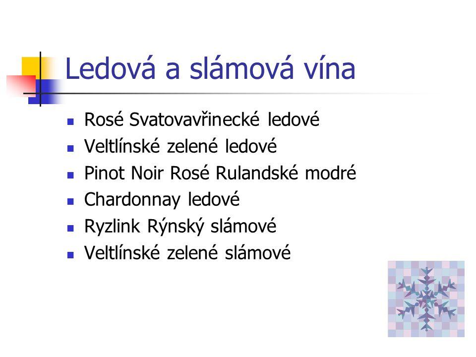 Ledová a slámová vína Rosé Svatovavřinecké ledové