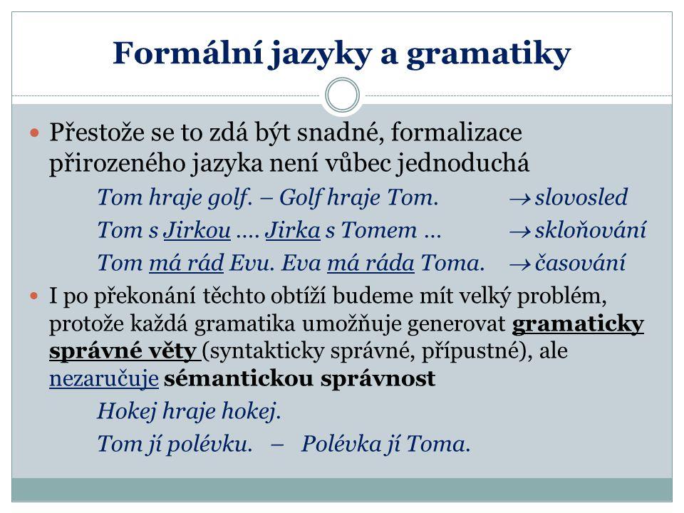 Formální jazyky a gramatiky