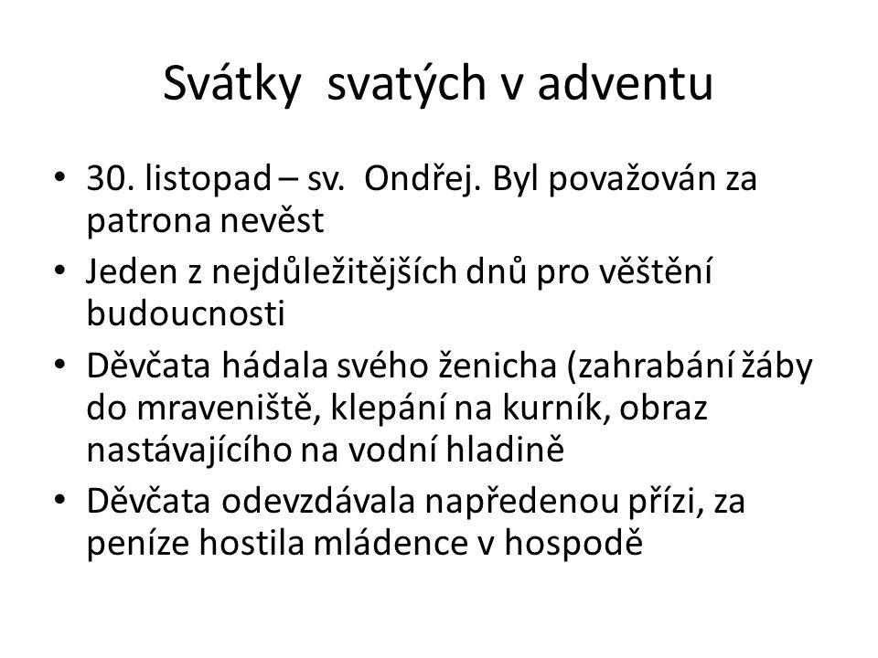 Svátky svatých v adventu