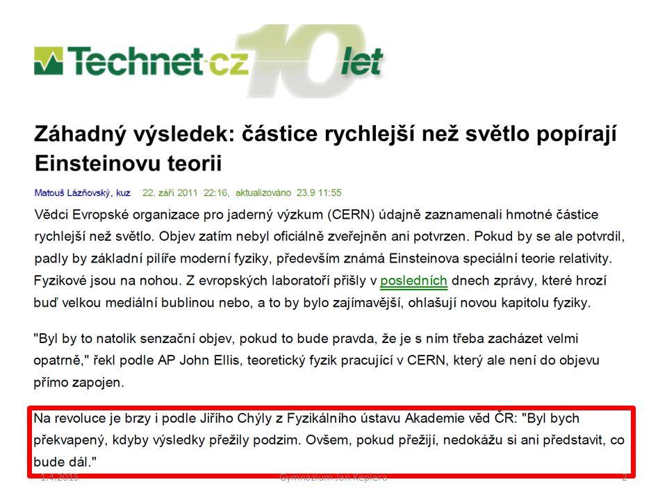 9.4.2017 Gymnázium Jan Keplera