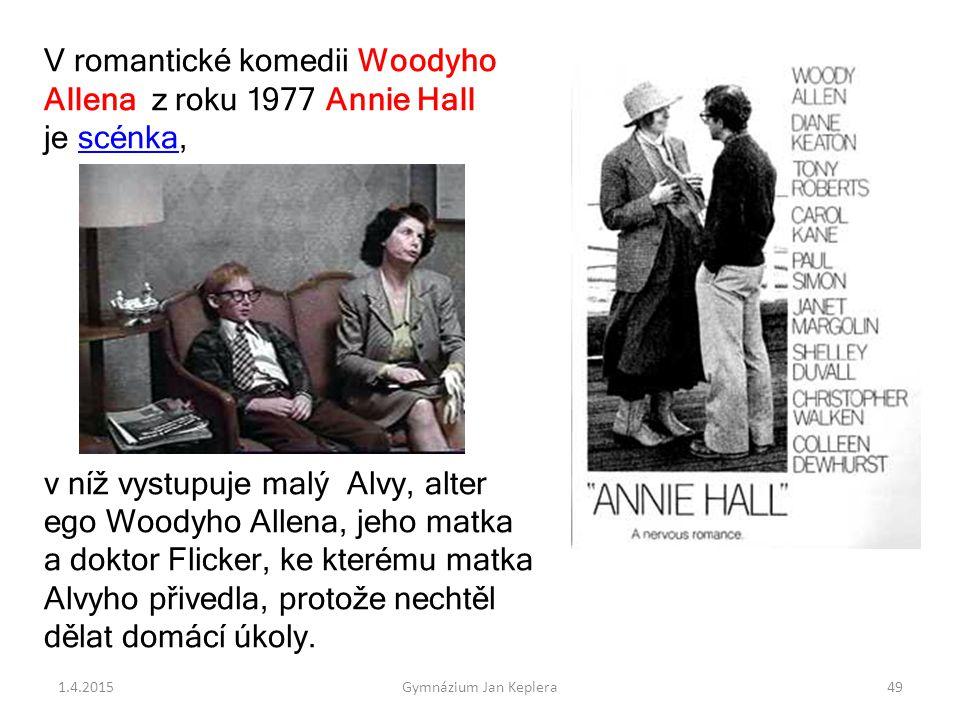 V romantické komedii Woodyho Allena z roku 1977 Annie Hall je scénka,