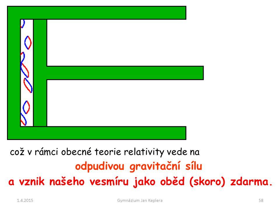 odpudivou gravitační sílu