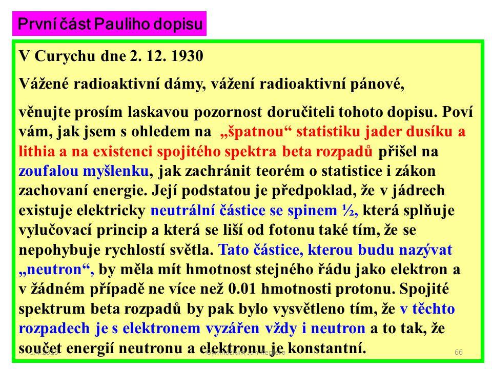 První část Pauliho dopisu