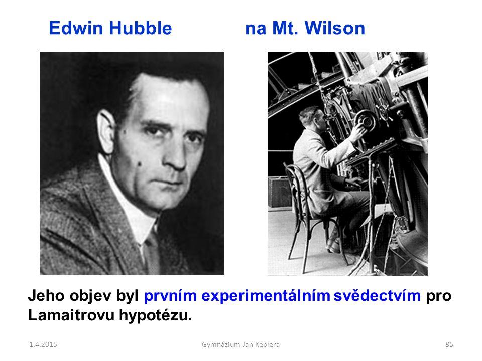 Edwin Hubble na Mt. Wilson