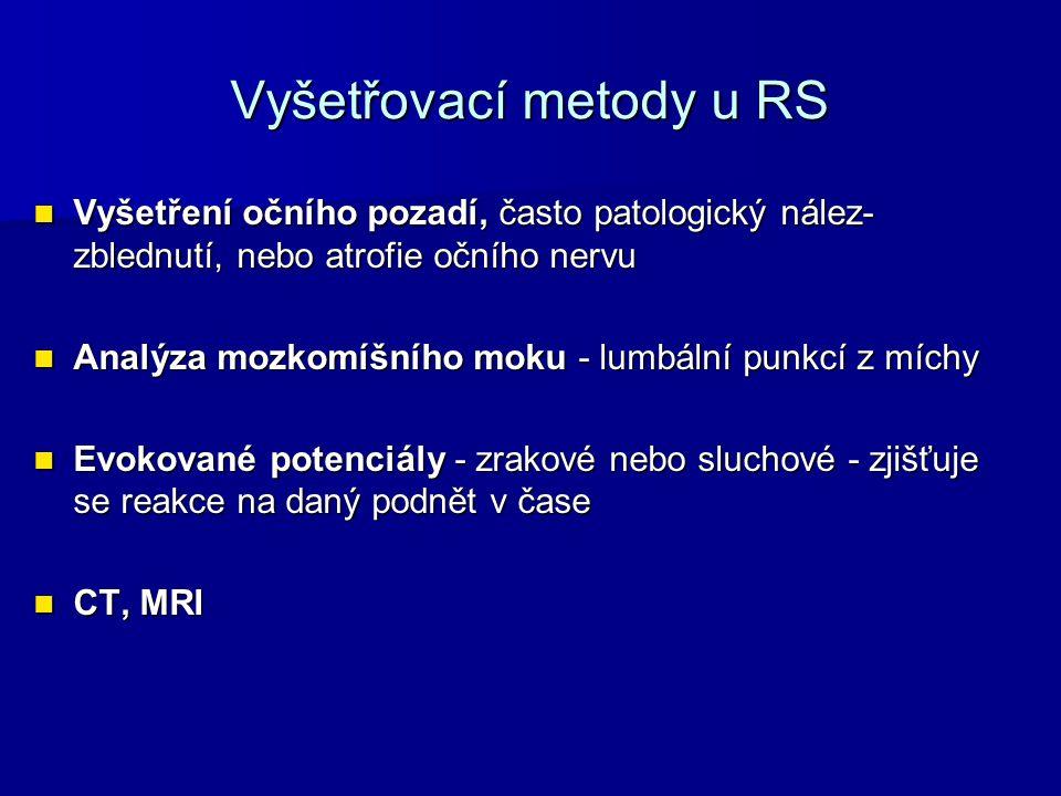 Vyšetřovací metody u RS