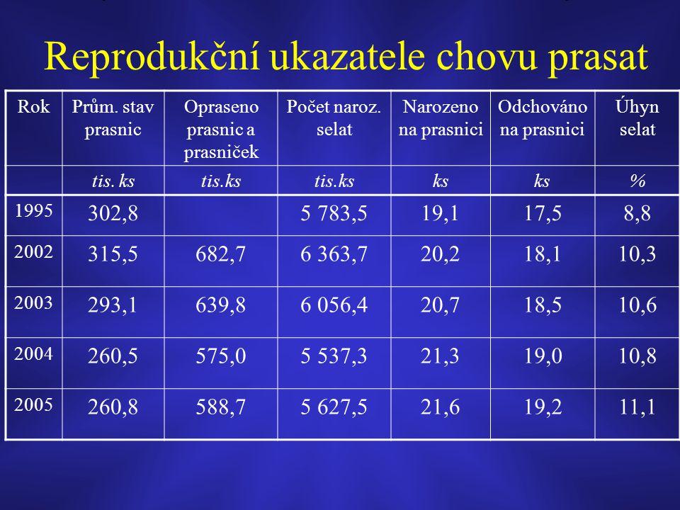 Reprodukční ukazatele chovu prasat