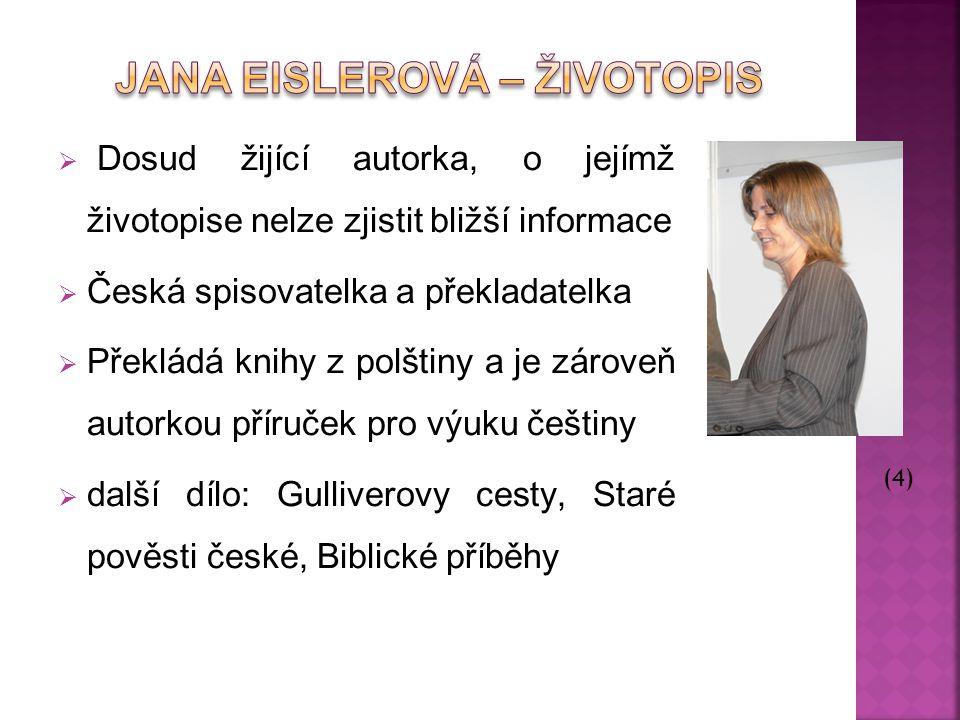 Jana Eislerová – Životopis