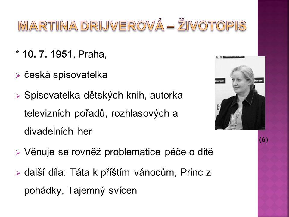 Martina Drijverová – Životopis