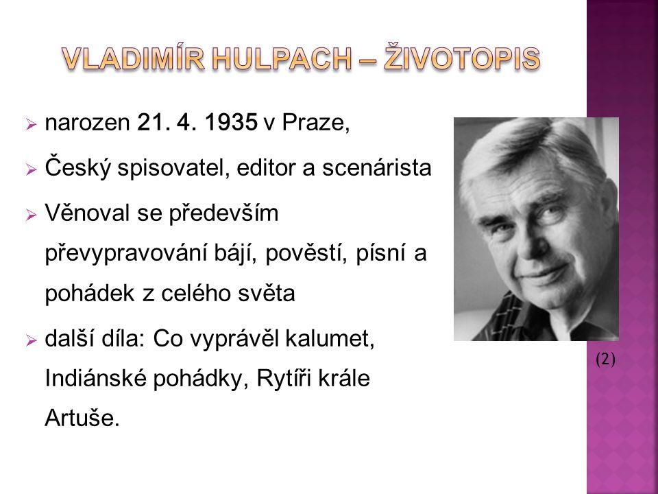 Vladimír Hulpach – Životopis