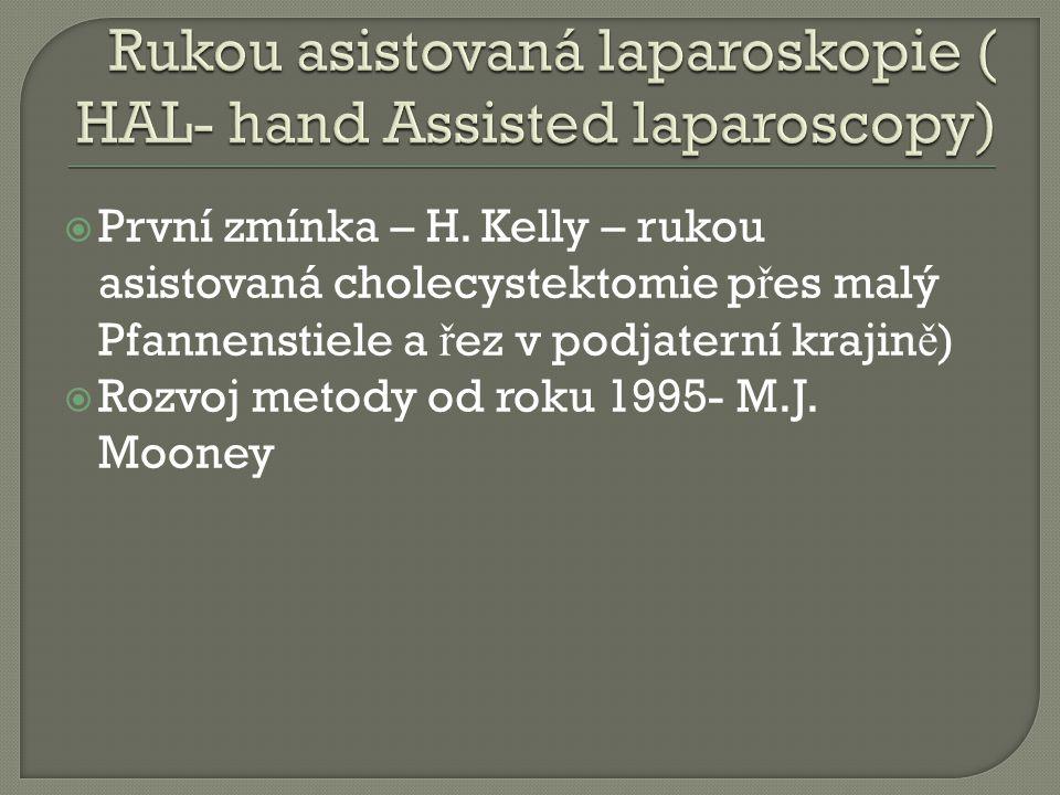 Rukou asistovaná laparoskopie ( HAL- hand Assisted laparoscopy)