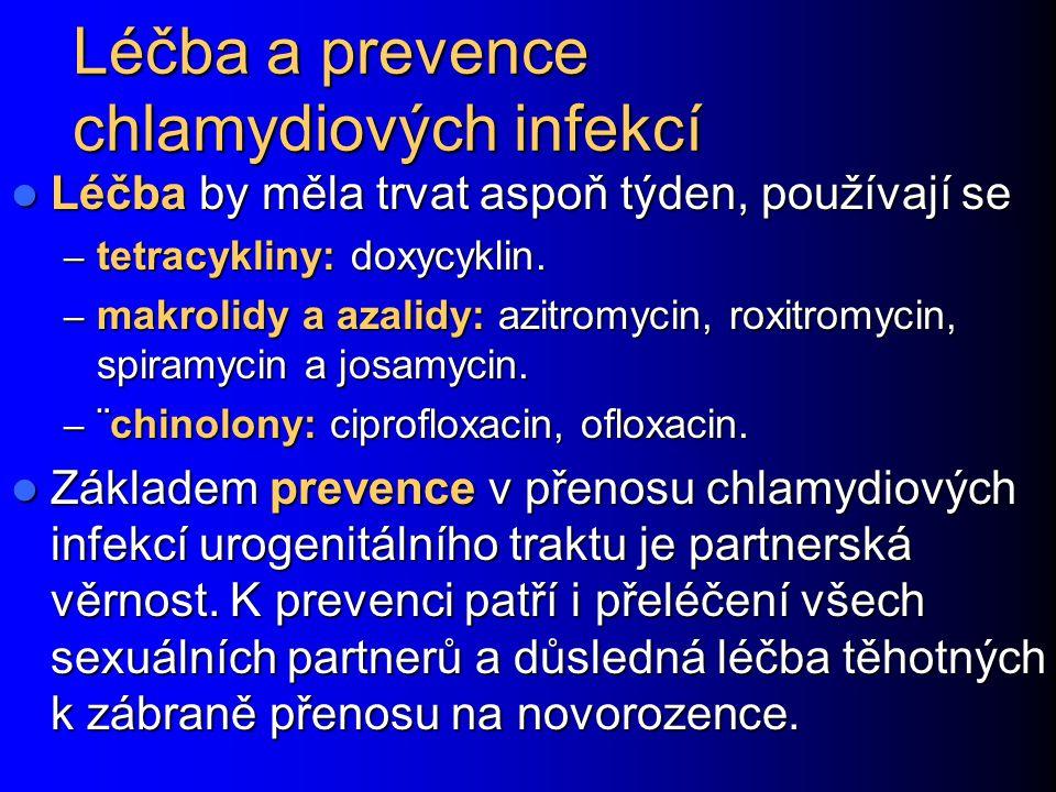 Léčba a prevence chlamydiových infekcí