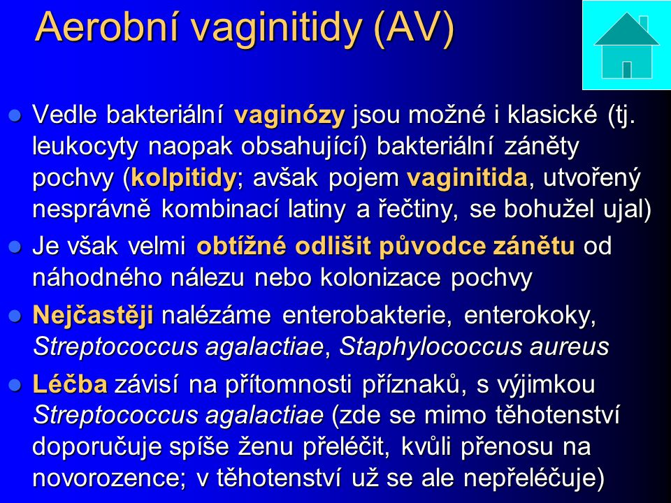 Aerobní vaginitidy (AV)