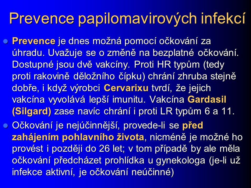 Prevence papilomavirových infekcí