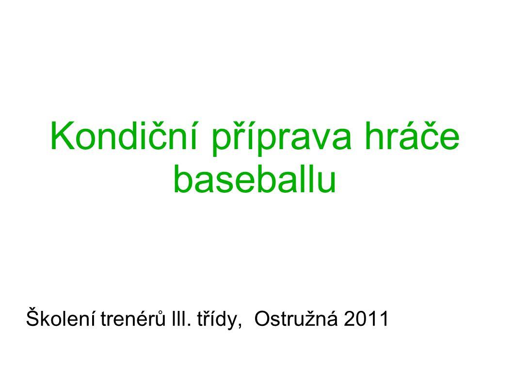 Kondiční příprava hráče baseballu