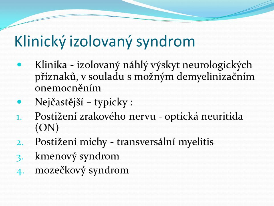 Klinický izolovaný syndrom