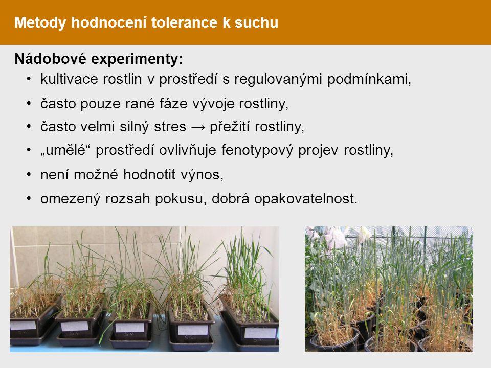 Metody hodnocení tolerance k suchu