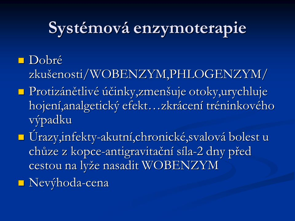 Systémová enzymoterapie