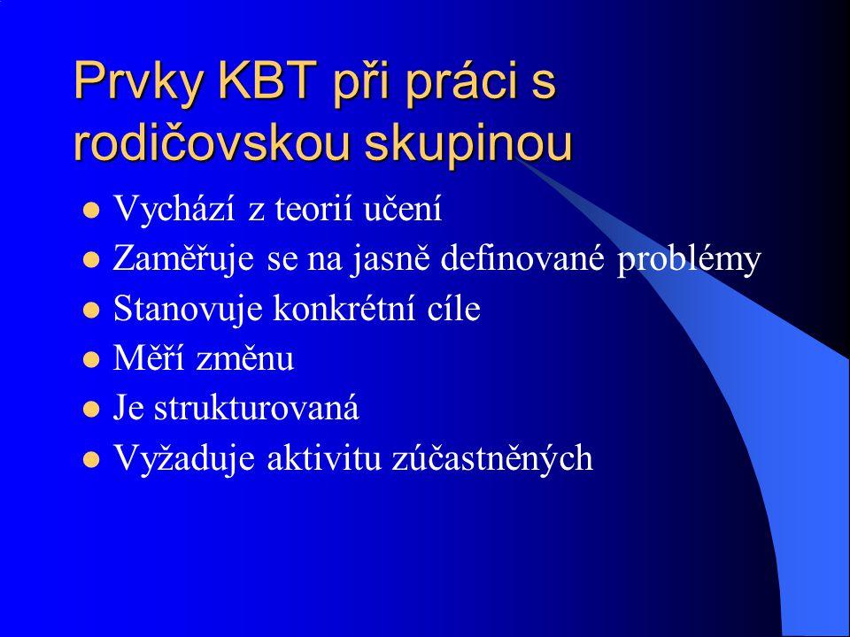 Prvky KBT při práci s rodičovskou skupinou