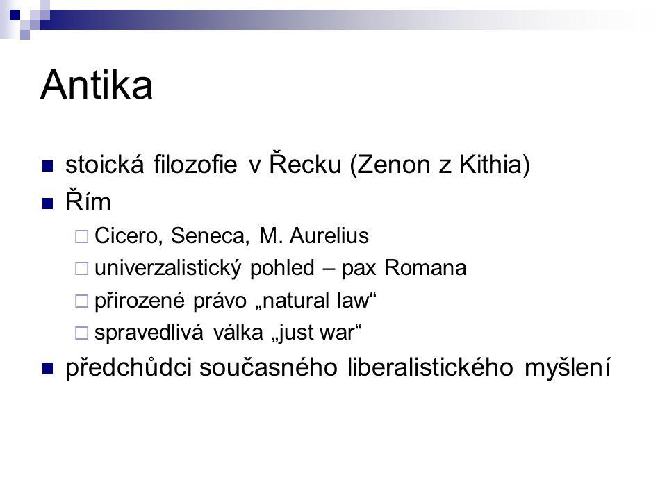 Antika stoická filozofie v Řecku (Zenon z Kithia) Řím