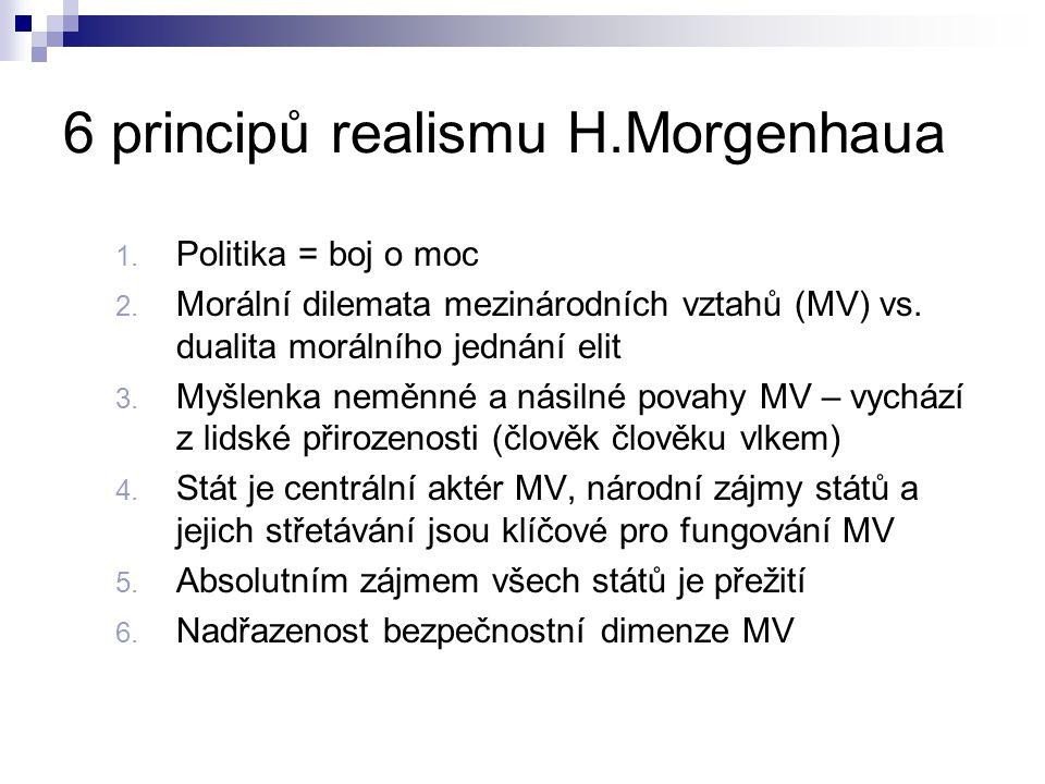 6 principů realismu H.Morgenhaua