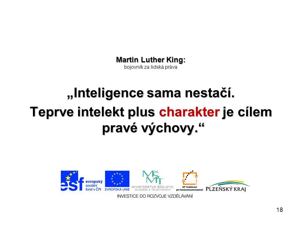 Martin Luther King: bojovník za lidská práva