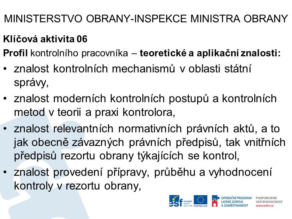 MINISTERSTVO OBRANY-INSPEKCE MINISTRA OBRANY