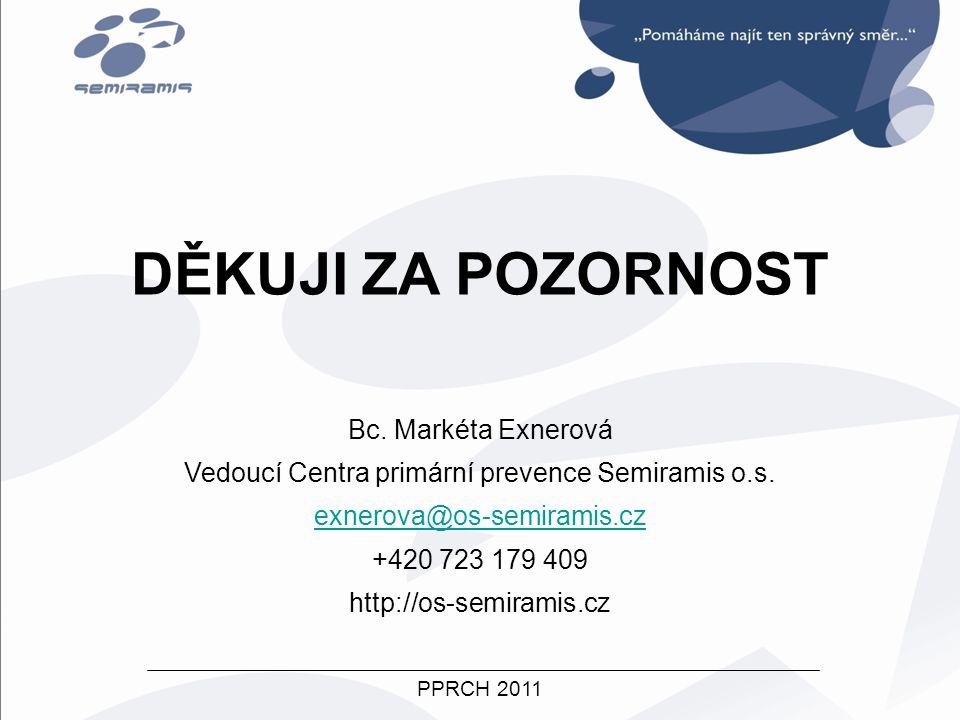 Vedoucí Centra primární prevence Semiramis o.s.