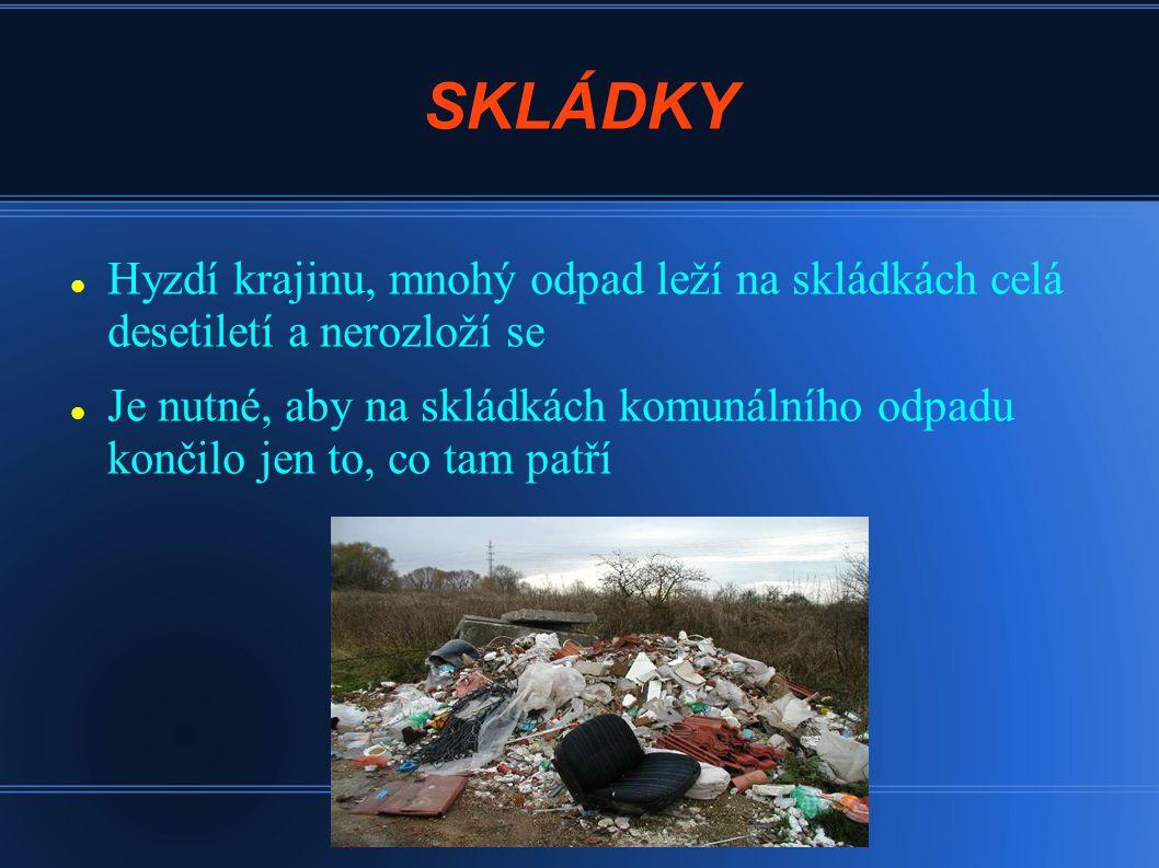 SKLÁDKY Hyzdí krajinu, mnohý odpad leží na skládkách celá desetiletí a nerozloží se.
