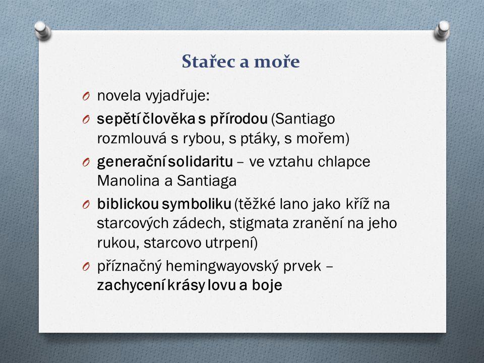 Stařec a moře novela vyjadřuje: