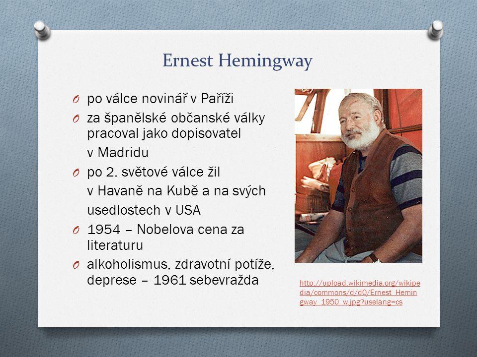 Ernest Hemingway po válce novinář v Paříži