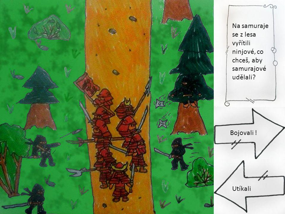 Na samuraje se z lesa vyřítili ninjové, co chceš, aby samurajové udělali