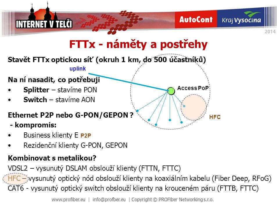 FTTx - náměty a postřehy