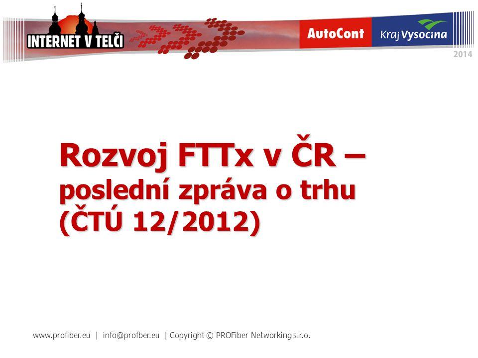 Rozvoj FTTx v ČR – poslední zpráva o trhu (ČTÚ 12/2012)