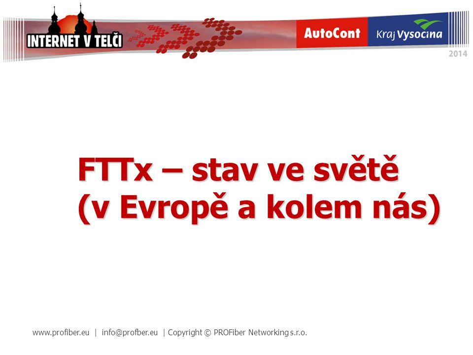 FTTx – stav ve světě (v Evropě a kolem nás)