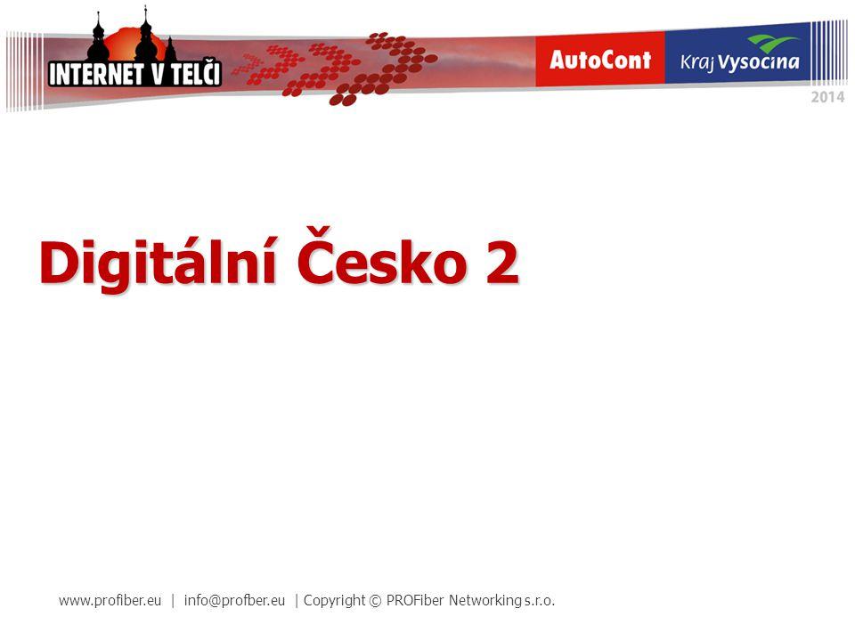 Digitální Česko 2 www.profiber.eu | info@profber.eu | Copyright © PROFiber Networking s.r.o.