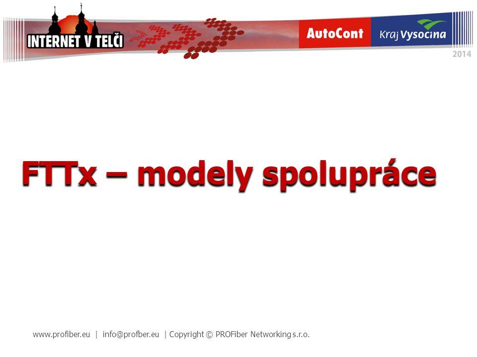 FTTx – modely spolupráce