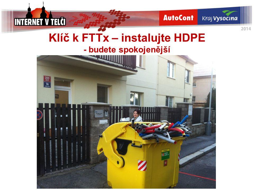 Klíč k FTTx – instalujte HDPE - budete spokojenější