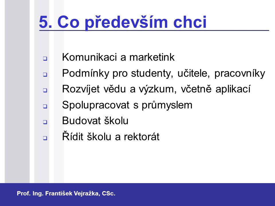 5. Co především chci Komunikaci a marketink