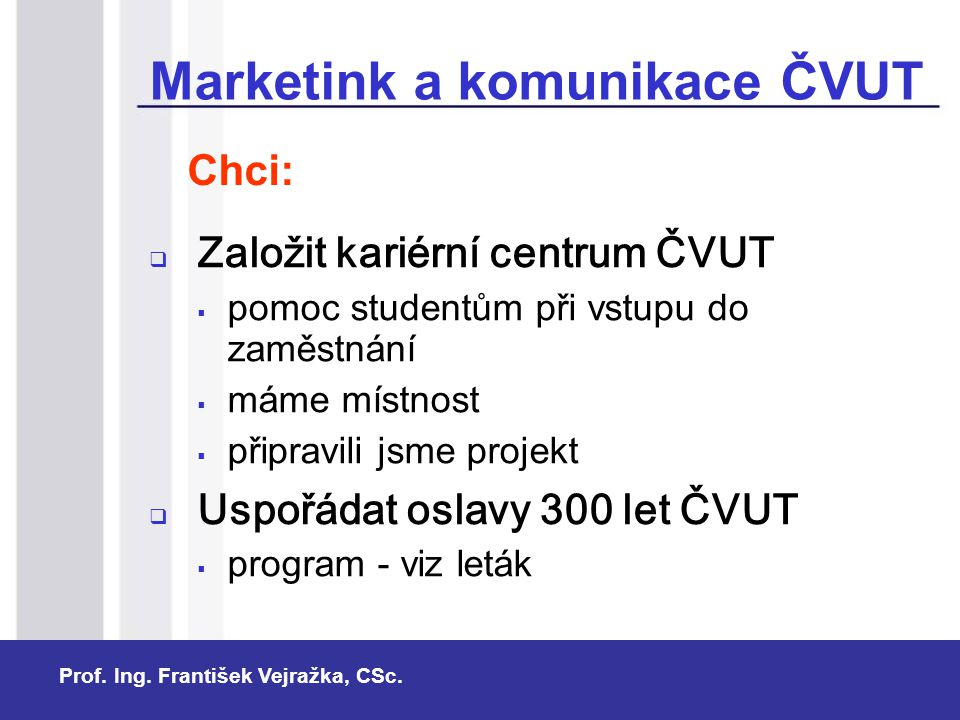Marketink a komunikace ČVUT