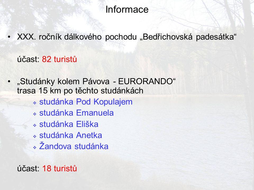 """Informace XXX. ročník dálkového pochodu """"Bedřichovská padesátka"""
