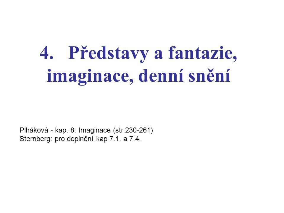 4. Představy a fantazie, imaginace, denní snění