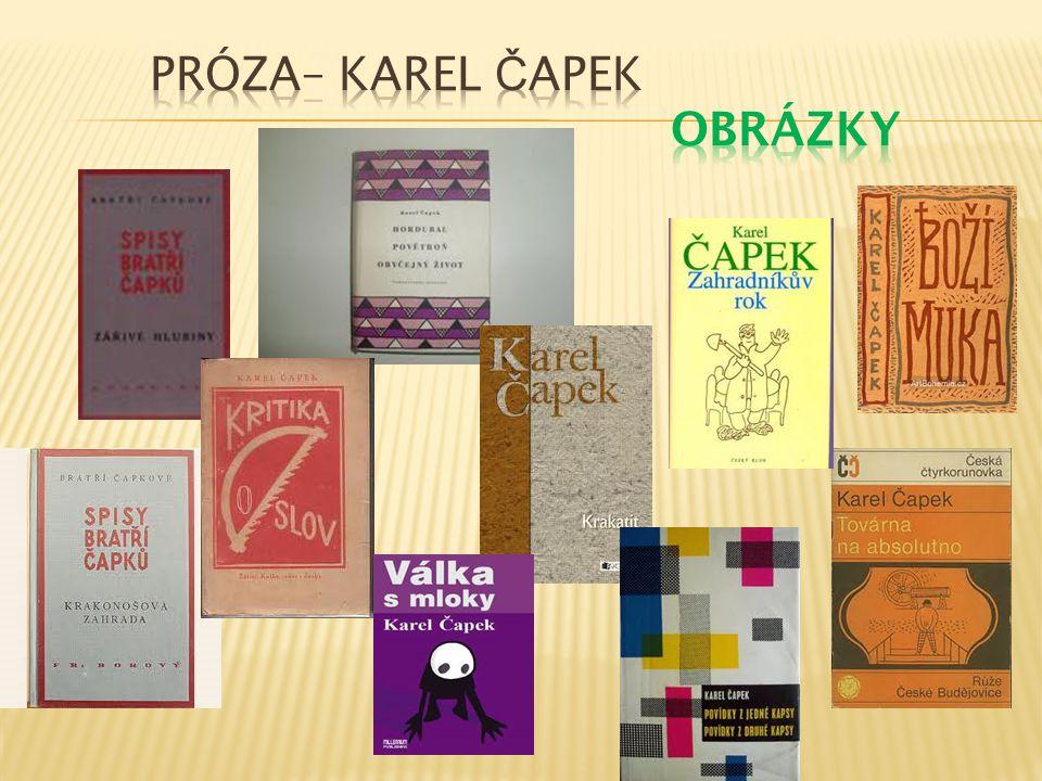 Próza– Karel Čapek Obrázky