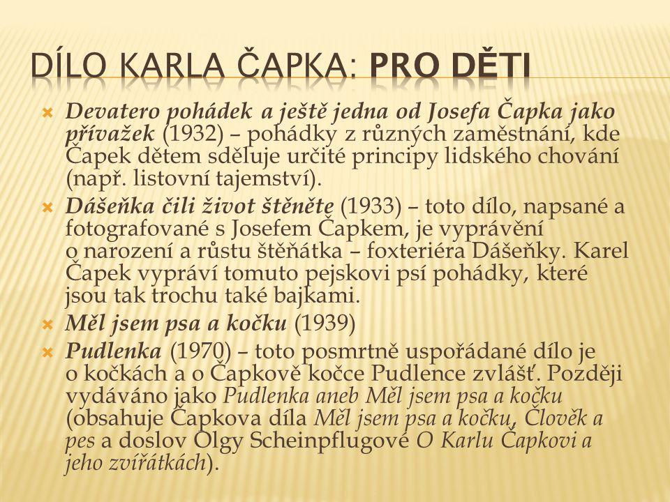 Dílo Karla Čapka: Pro děti