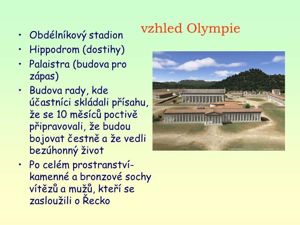 vzhled Olympie Obdélníkový stadion Hippodrom (dostihy)