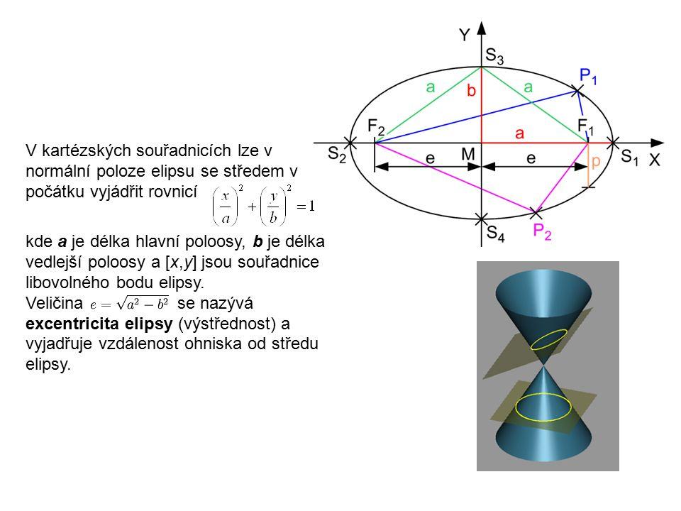 Technická mechanika 9.přednáška. V kartézských souřadnicích lze v normální poloze elipsu se středem v počátku vyjádřit rovnicí.