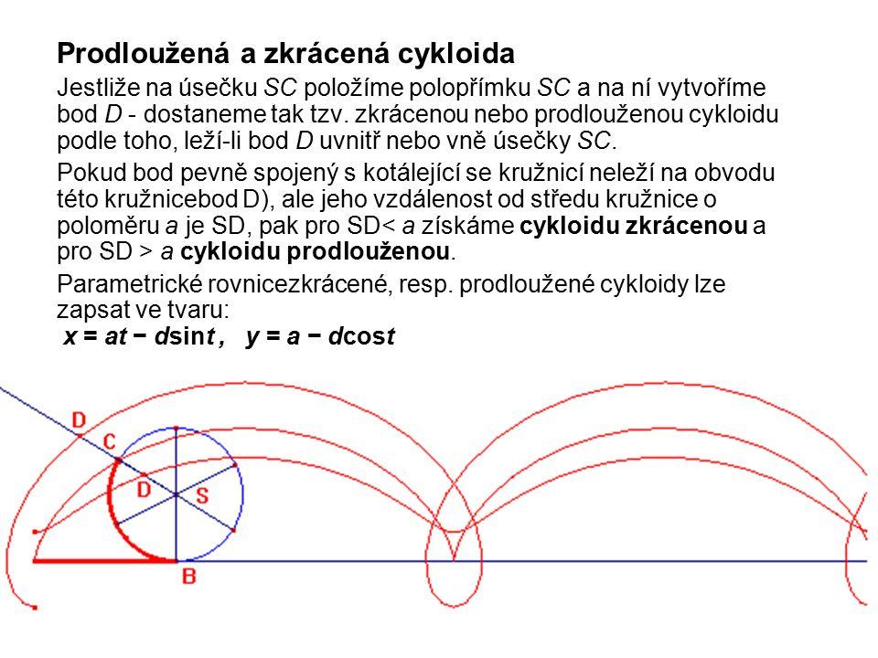 Prodloužená a zkrácená cykloida