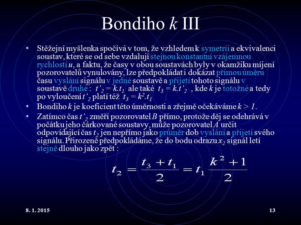 Bondiho k III
