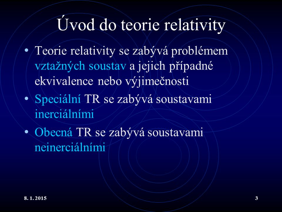Úvod do teorie relativity