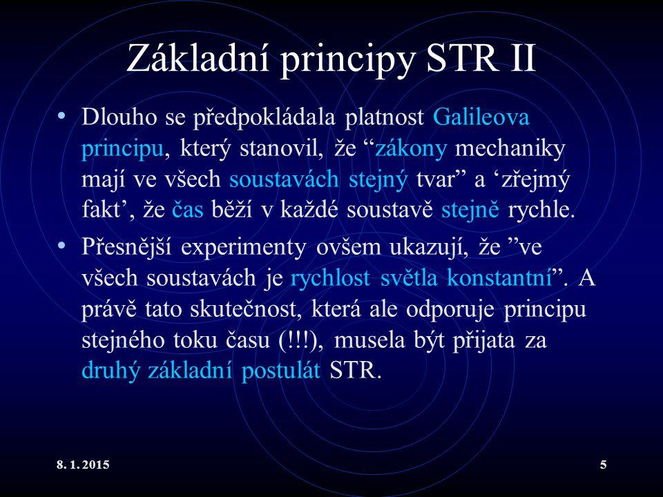 Základní principy STR II